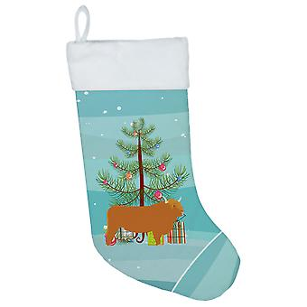 Carolines Treasures BB9187CS Highland lehmän joulu joulu sukat