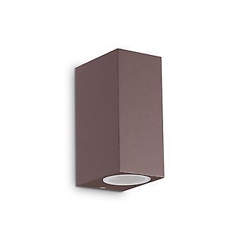 Ideale Lux Up 2 Light Wall Light Caffè IDL213354
