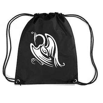 Black backpack fun4084 tribal bird