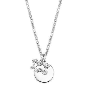 s.Oliver Jewel Women's Necklace Prata 2026924 Zodíaco Sinal Aquário