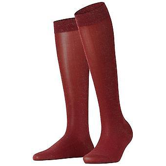 Falke Shiny Knee High Socks - Burgundy