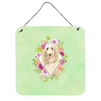 Spinone Italiano Green Flowers Wall or Door Hanging Prints