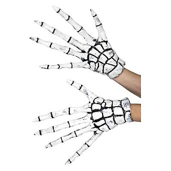 Mens Latex Skeleton Gloves (One Size)