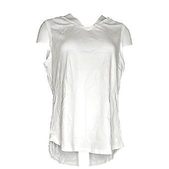 Isaac Mizrahi Live! Women's Top Essentials Shirttail Hem White A286119