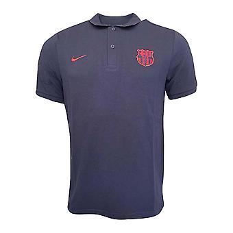 2019-2020 Barcelona Nike Core Polo Shirt (Dark Obsidian)