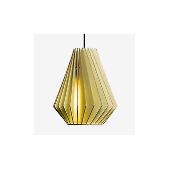 Iumi Hektor L Cone Shaped Birch Plywood Pendant - Light Green