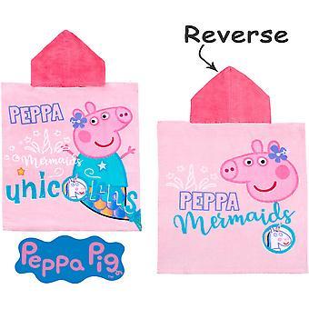 Peppa Pig Greta Gris Licorne Badponcho Poncho Serviette de bain 115-55cm