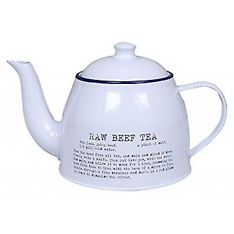 Retro Vintage Teapot with War Recipe