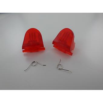 Trigger button & spring set for sony ps4 controller l2 r2 replacement - transparent red | zedlabz