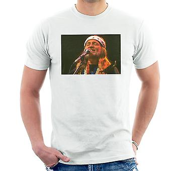 T-shirt TV vezes Country e Western cantor Willie Nelson masculino