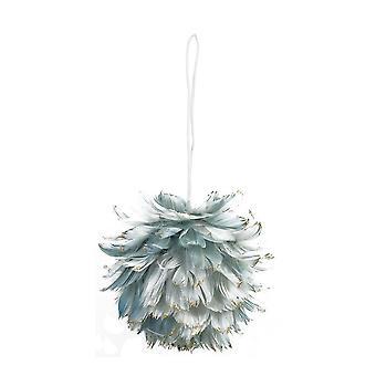 Lys & Levende Jul Bauble 13x13cm Fluffy Grå Blå