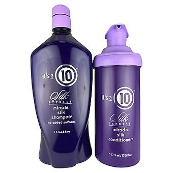 It's a 10 silk express miracle  silk shampoo & conditioner no added sulhates 33.8 oz/17.5 oz