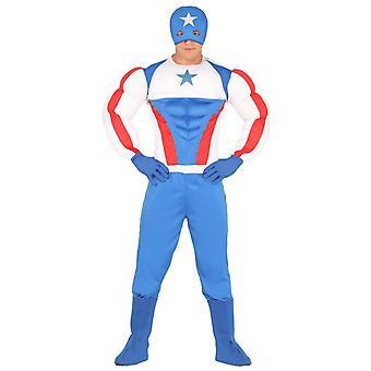 Mens Superstar Superheld Fancy Dress Kostuum