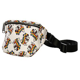 Mickey Mouse Mickey Rainbow Print Bum Bag