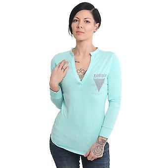 YAKUZA Kvinnors långärmad skjorta ros av 893 färgämne