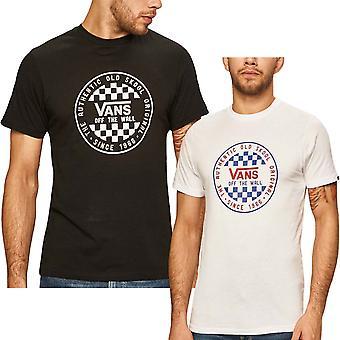 Vans Mens OG Checker Slim Fit Short Sleeve Crew Neck T-Shirt Top Tee