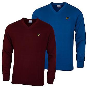 Lyle & Scott Mens V Hals Merino Ull Akryl hållbar tröja