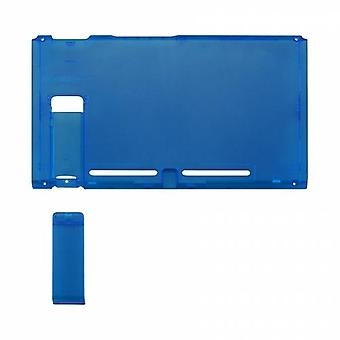 Housing shell for nintendo switch console back plate with kickstand - transparent blue | zedlabz