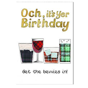 Embroidered Originals Birthday Get The Bevvies In Card