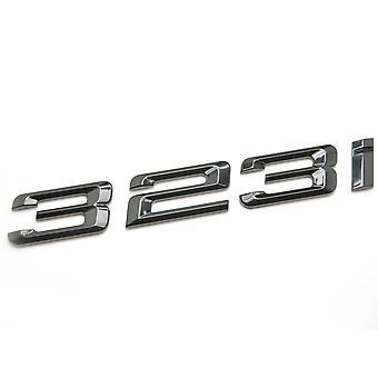 Kiilto musta BMW 323i auton merkki tunnus mallinumerot kirjaimet 3-sarjan E36 E46 E90 E91 E92 E93 F30 F31 F34 G20