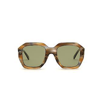 Celine CL40045I 55N Coloured Havana/Green Sunglasses
