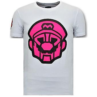 T-paidat printillä - Mario Neon Print - Valkoinen