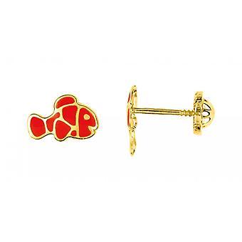 Clous heiße Ohrringe VIS LAQUE gelb Gold 375/1000 (9K)