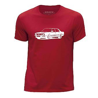 STUFF4 Boy's Round Neck T-Shirt/Stencil Car Art / M5 E28/Red