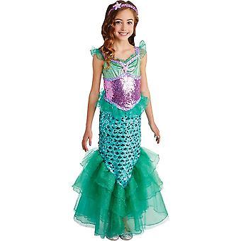 Meermeer Meerjungfrau Kind Kostüm