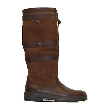 Dubarry Galway Slim Leg Width Walnut Brown Leather Womens Pull On Long Leg Boots