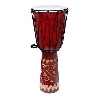 24-дюймовый высокий резной деревянный Djembe барабан