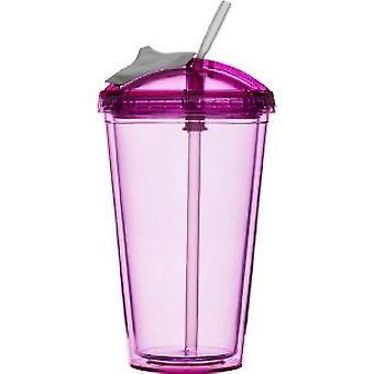 Sagaform Fresh Smoothie Becher 0,45 Liter Pink