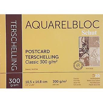 Schut Terschelling Watercoloured pad Classic 10,5x14,8cm 300 gram - 20 sheets (postcard)