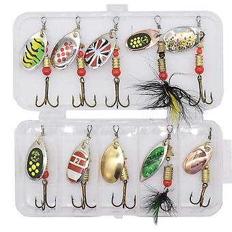 10 pieces of moth in a handy box, nice fishing Lures