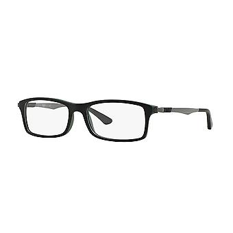 Ray-Ban RB7017 5197 Top Black On Green Glasses