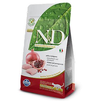 Farmina N&D Grain Free Neutered Cat Chicken and Pomegranate (Cats , Cat Food , Dry Food)