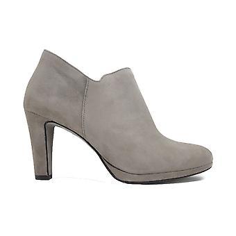 Paul Green 8651-04 Tryffel Mocka Läder Kvinnors Heeled Zip Up Boots