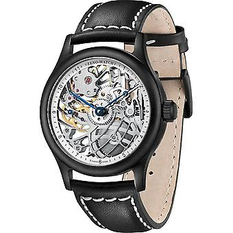 زينو ووتش - ساعة اليد - الرجال - هيكل عظمي متوسط الحجم 4187S-bk-2