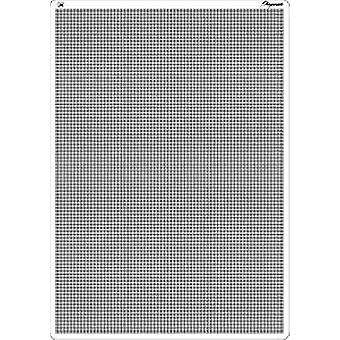 Pergamano A4 Bold Straight Multi Grid for Embossing and Perforating, Grey