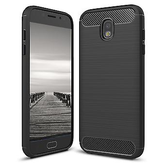 Shell para Samsung Galaxy J5 (2017) / J520 Case Protection Slim Armor Carbon Fiber Black