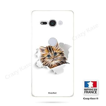 Hull For Sony Xperia Xz2 Compact Soft Pattern Cat Too Cute