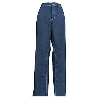 Peace Love World Women's Plus Jeans Wide Release Cuff Denim Blue A296696