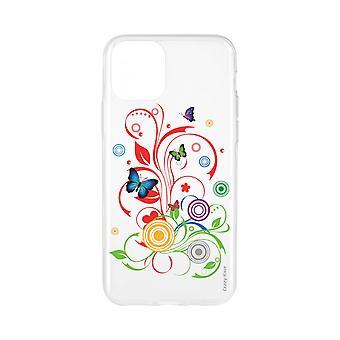 Romp voor iPhone 11 flexibele patroon vlinders en cirkels
