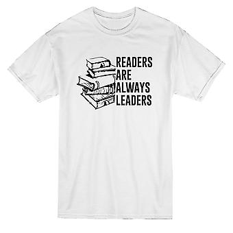 Leser sind immer Führer Buch Grafik Herren T-shirt
