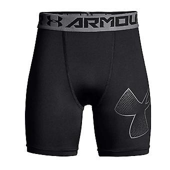 Under Armour HeatGear Armour Mid Kids Fitness Sport Baselayer Short Black