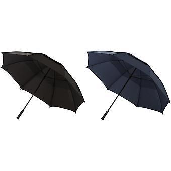 Slazenger 30 Zoll Newport entlüftet Sturm Regenschirm (2 Stück)