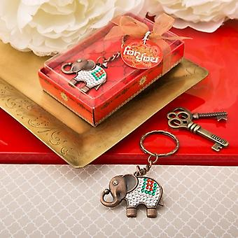 Exotic Indian Elephant Copper Key Chain