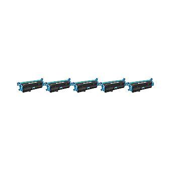 RudyTwos 5 x korvaaja HP 508 X Toner yksikkö Syaani väri LaserJet Enterprise M552dn, M553n, M553dn, M553x, M553dh, Monitoimilaitteen M577dn, Monitoimilaitteen M577f yhteensopiva Flow Monitoimilaitteen M577c, virtaus Monitoimilaitteen M577z