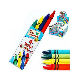 Pack of 6 Assorted Wax Crayons Party Bag Fillers | Stationery Back to School