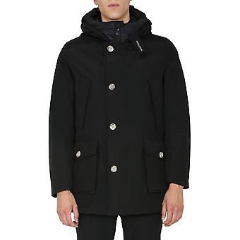 Woolrich Woou0271mrut0108nbl Men's Black Cotton Outerwear Jacket